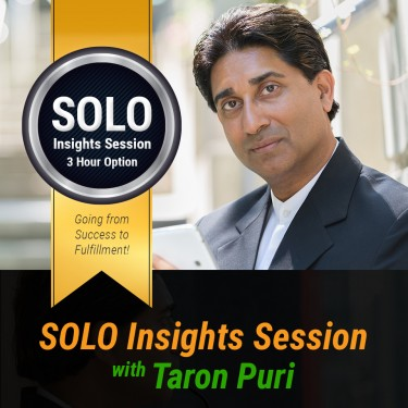 The 'SOLO' Insights session - 3 Hour Option
